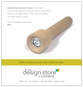 Lumens ad in Sactown Magazine