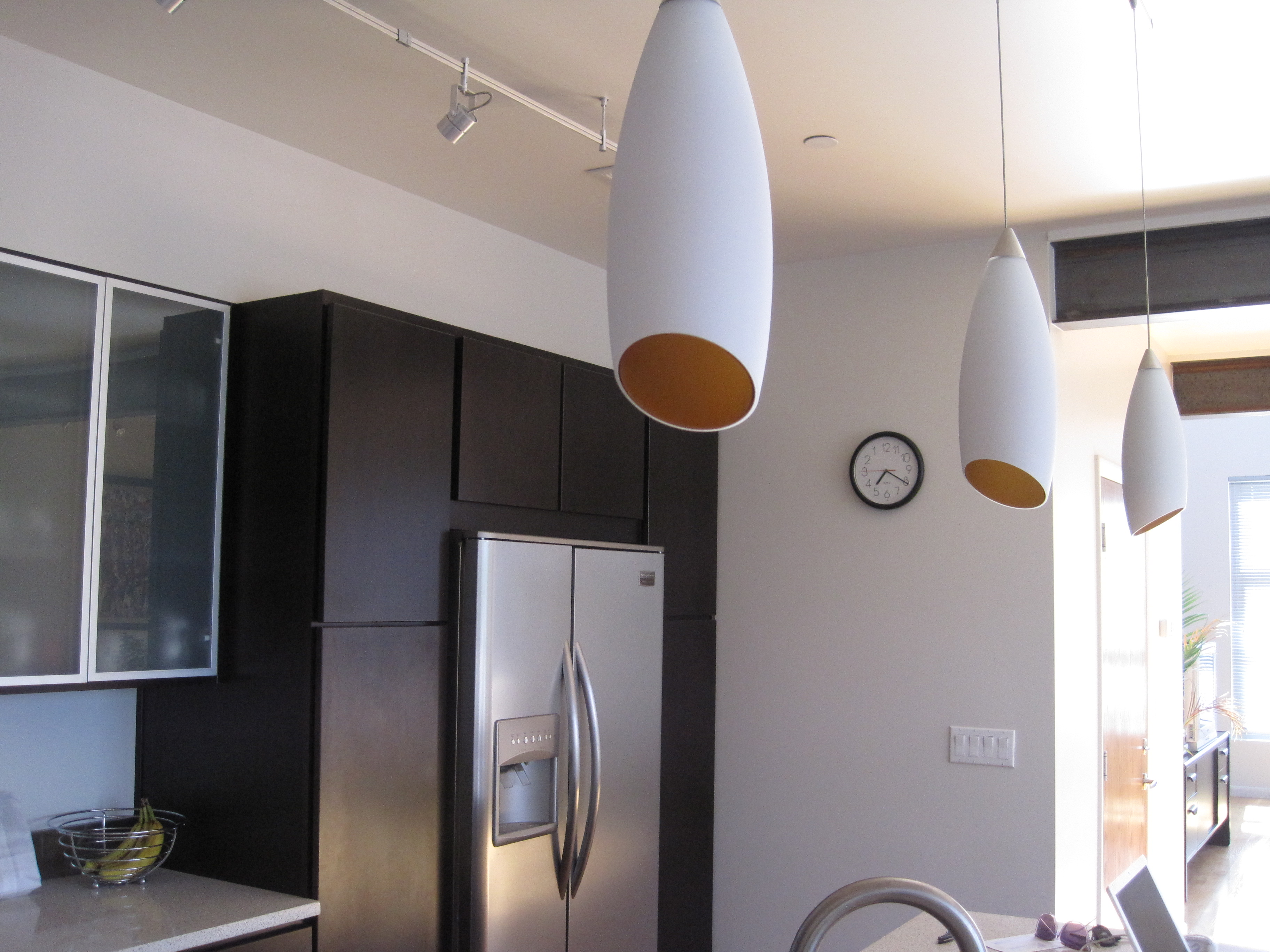 Tech Lighting monorail Camile pendants