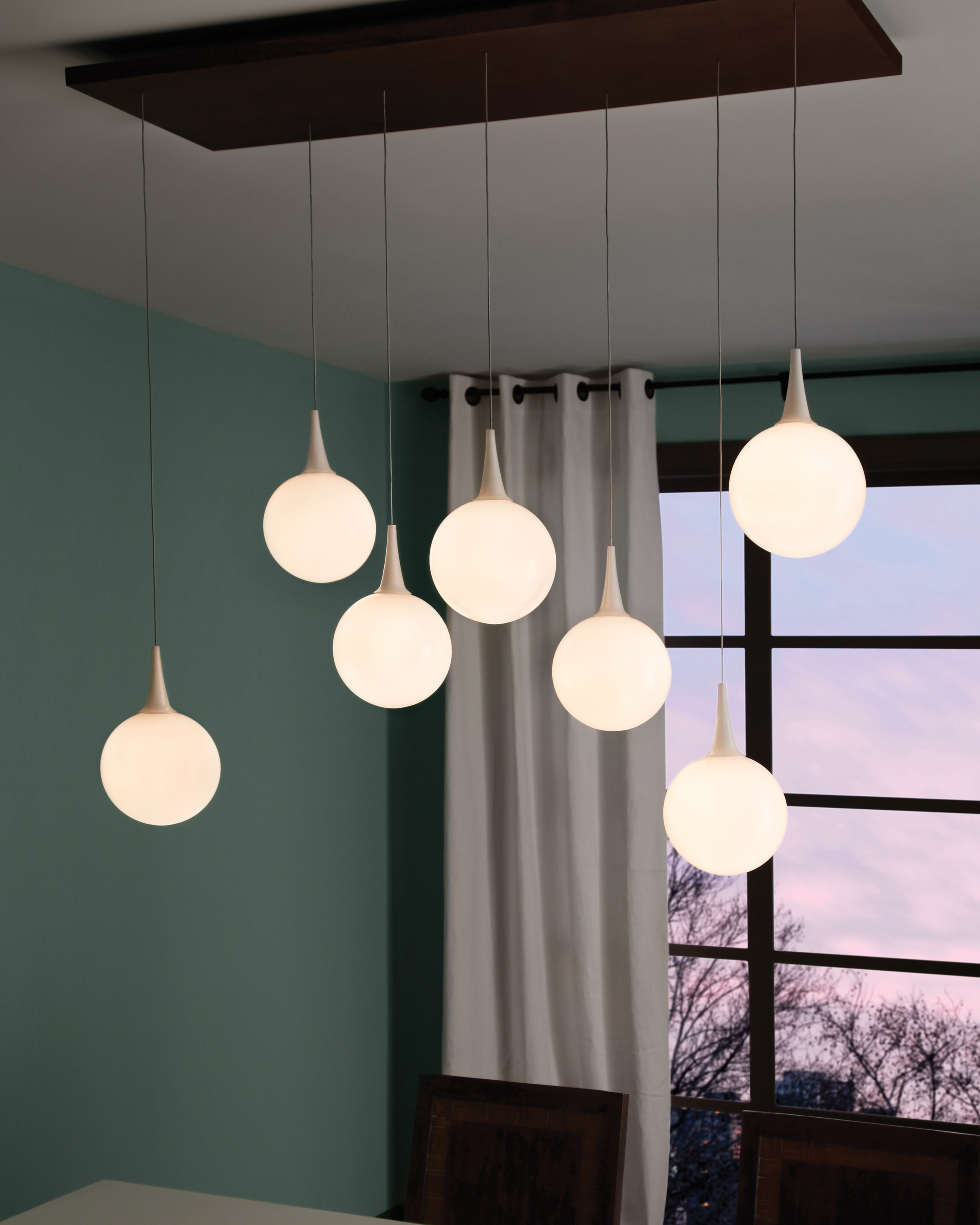 Pele Linear Chandelier contemporary LED lighting