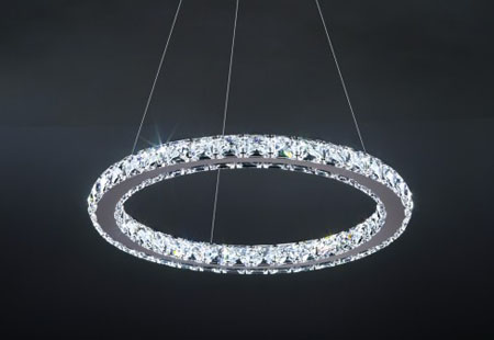 Circle Suspension by Swarovski LED lighting