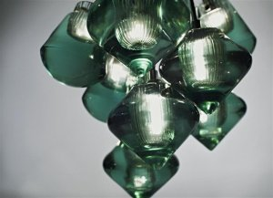 Pressed Glass Pendant by Tom Dixon