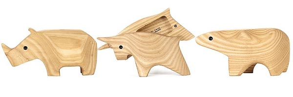 Wooden Animal Boxes by Karl Zahn